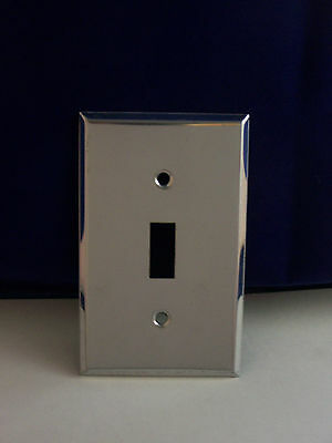 Vintage Chrome Single Switch Cover Plate with Screws