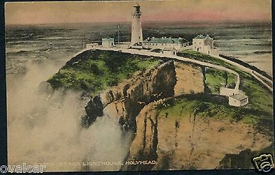 South Stack Lighthouse, Holyhead. Anglesey. Wales. Old Postcard