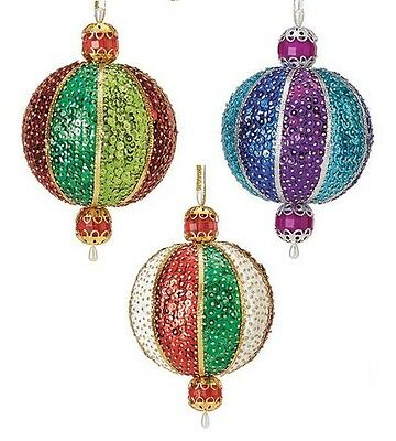 Kit makes 3 Holiday,Regal or Peppermint Sphere Ornaments Christmas craft NEW