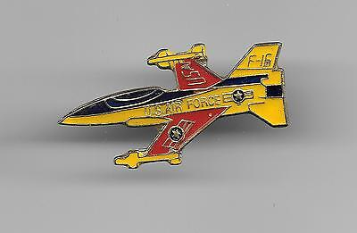 Vintage F-16 Fighter Aircraft old enamel pin
