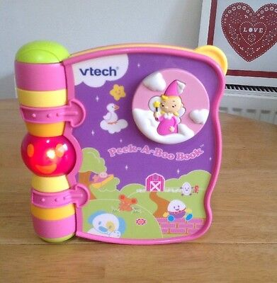 Vtech Peek-A-Boo Rhymes Book Baby Song Rhyme Interactive Electronic Musical