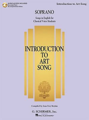 Introduction To Art Song For Soprano Singers Sing VOCALS MUSIC BOOK Online Audio