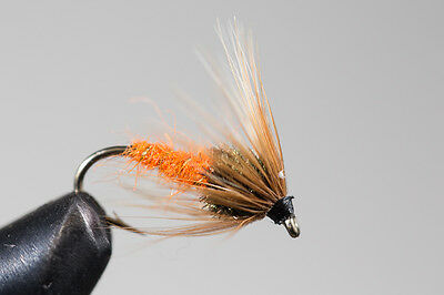 ICE FLIES. Sedge Pupe. (4-pack). Available in size 8 - 14