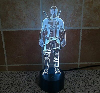 Marvel Deadpool 3D LED Night Light With 7 Changeable Colours + Remote