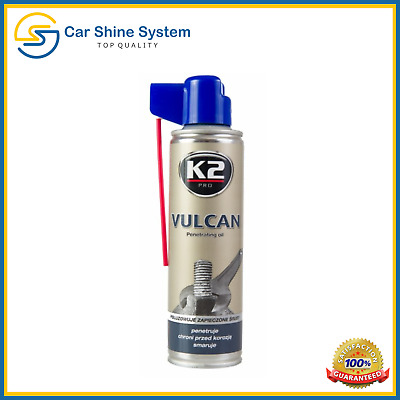 K2 VULCAN Release Spray Corroded Rusted Bolts Nuts Screw Penetrating Oil  250ml
