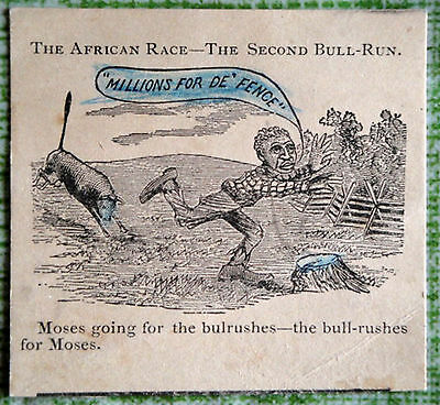 RARE Vintage 1881 Advertising Paper/Tradecard African Race-The Second Bull-Run