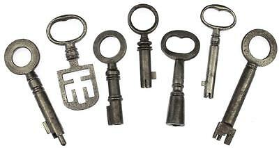 Antique Unusual Keys x 7 Different Types