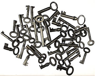 Antique Keys Collection of 36 for Caddy/Caskets/Boxes - My Ref.J42