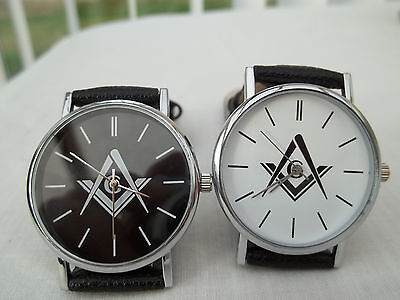 Black And White Faced Masonic Watches