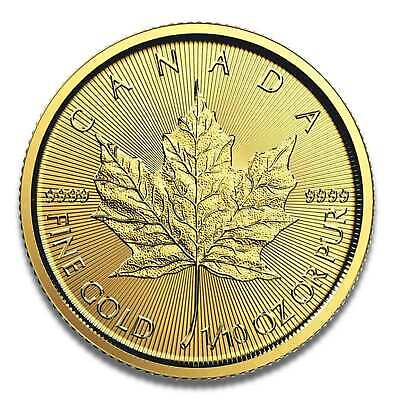 Goldmünze Maple Leaf 1/10 Unze - 2018 - 999.9 Feingold - Royal Canadian Mint