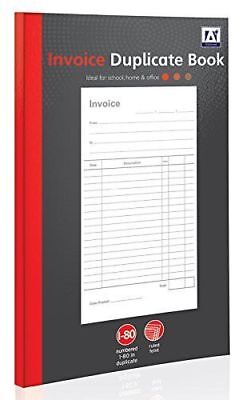 Invoice Duplicate Book 80 Pages Numbered Full Size A5, Business Home Office Use.