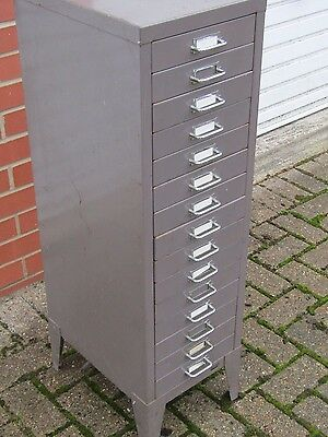 Industrial Stor 15 Drawer Filing Cabinet On Legs