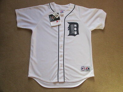 Detroit Tigers MLB Baseball Button Down Jersey Shirt Sheffield #3 Mens Small NWT