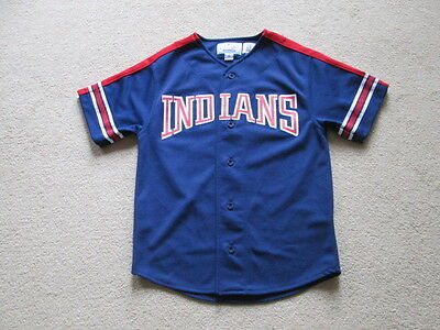 Cleveland Indians MLB Baseball Button Down Jersey - Justice #23 Youth Boys Small