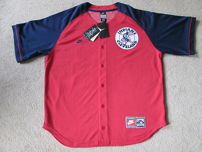 Cleveland Indians MLB Baseball Button Down Jersey - Hafner #48 - Mens Large NWT
