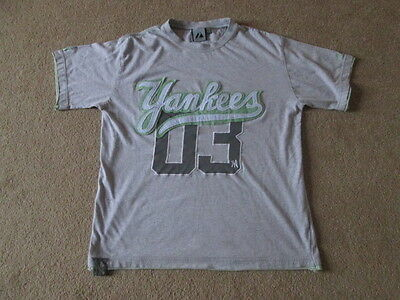 New York Yankees Majestic MLB Baseball T-Shirt Jersey - Mens Small