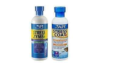 Stress Zyme and Stress Coat Aquarium Fish Tank Water Treatment and Conditioner