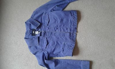 Girls H&m Purple Distressed Look Jacket Age 10-11Yrs