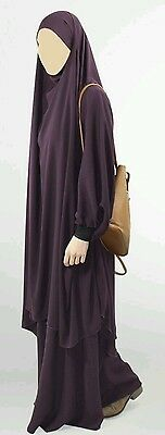 Islamic clothing two piece jilbab hijab khimar niqab