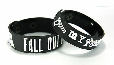 FALL OUT BOY MY CHEMICAL ROMANCE FOMC NEW! 2pcs(2x) Bracelet Wristband