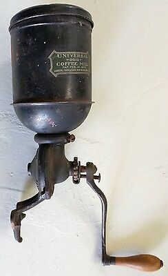 Antique UNIVERSAL COFFEE MILL #0012 Dated 1904 Connecticut Cast Iron Landers
