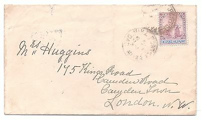 TRINIDAD QV 1897 COVER 2½d to London, England