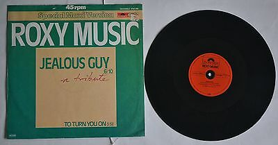 """Roxy Music Jealous Guy (1981 German Polydor 12"""" b/w To Turn You On, picture slv)"""