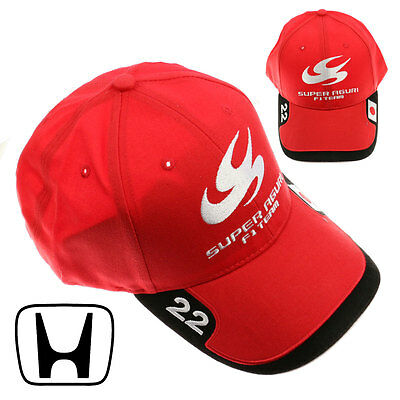 HONDA Formula One 1 - Super Aguri Team - F1 Takuma Sato Red Baseball Cap