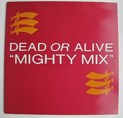 DEAD OR ALIVE Mighty Mix (Rare 1984 UK 2-track white label promotional vinyl)