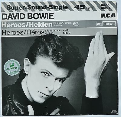 """David Bowie Heroes RARE GERMAN 12"""" Single IN GREAT CONDITION"""
