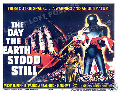 The Day The Earth Stood Still Lobby Title Card Poster 1951