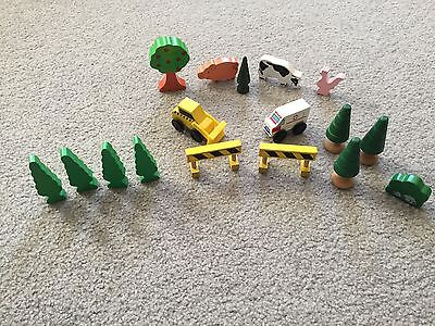 Wooden Train Wood Thomas Brio Compatible Accessories Trees Vehicles Animals Lot