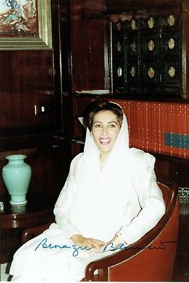 BENAZIR BHUTTO  - Signed Colour photograph