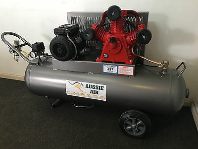 Air Compressor Made 100L 17 CFM Cast Iron Pump 240V 3HP Single Phase