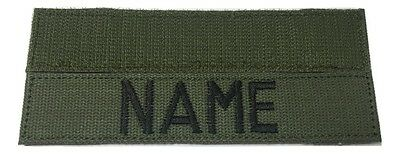 OD Green Custom NAME TAPE with Fastener, US ARMY USAF MARINES POLICE Military