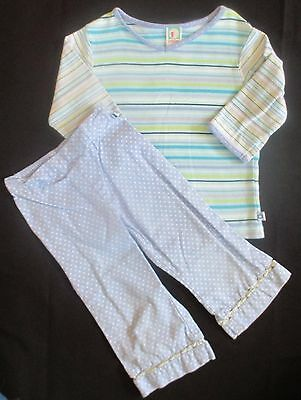 GYMBOREE Girl's VINTAGE Spring Showers Line 2-Pc Outfit Shirt Pants Size 3