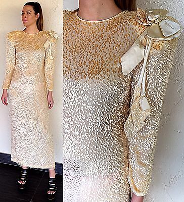 Vintage 80s Wedding Dress NWT Silk Velvet Party Cocktail Evening Couture Gown