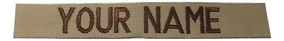 Desert Tan Custom NAME TAPE - US ARMY USAF MARINES POLICE Military Tape, Sew-On