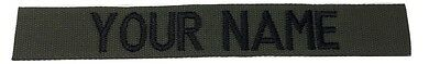 OD Green Custom NAME TAPE - US ARMY USAF MARINES POLICE Military Tape, Sew-On