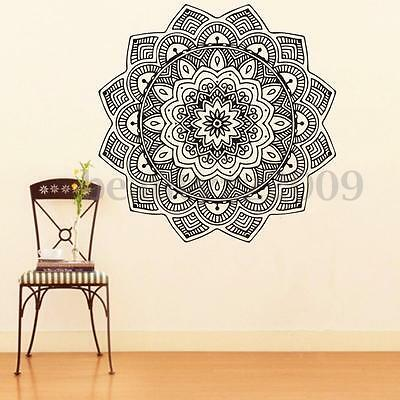 Removable Indian Mandala Flower Vinyl PVC Art Wall Sticker Decal Mural Room Home
