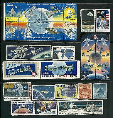 Usa Space Exploration Postage Stamps Mnh Collection