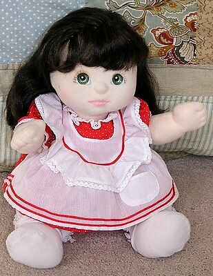Vintage Mattel My Child Doll Black with Green Eyes 1980's Original Outfit