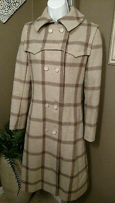 Vintage GIVENCHY Nouvelle Boutique 100% Wool Double Breasted COAT Size 8 France