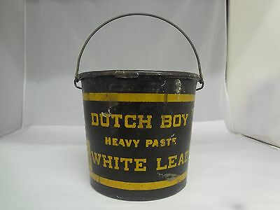 Vintage Advertising Dutch Boy White Lead Heavy Paste Bucket, 401-I