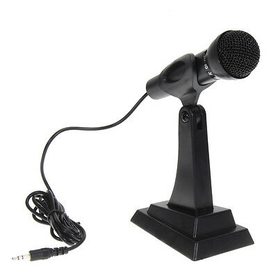 Desktop Studio Microphone Mic W/ Stand for PC Laptop Computer Skype Chat Gaming