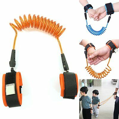 Kid Child Anti Lost Wrist Link Safety Harness Strap Rope Leash Walking Hand Belt