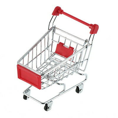 Cute Stainless Steel Mini Supermarket Handcart Shopping Utility Cart Colors CC
