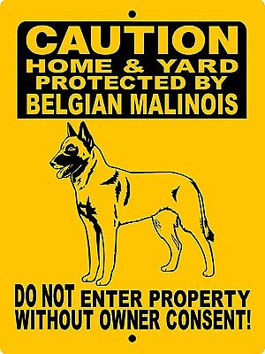 "BELGIAN MALINOIS Dog Sign,ALUMINUM 12"" x 9"" Guard Dog,Security, 2496HYBCYM"