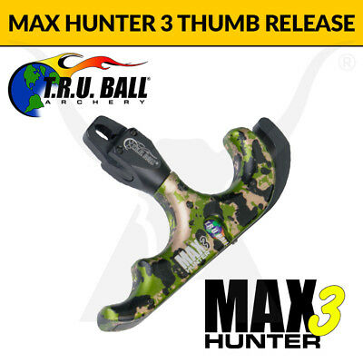 TRU Ball Max Hunter 3 Release Aid - Thumb Button Bow Hunting Release Trigger