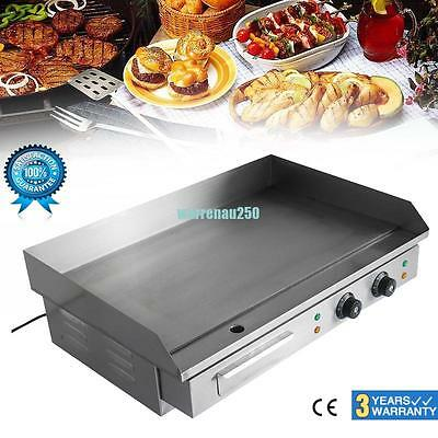 Commercial Electric Griddle 4400W Countertop Grill 50°C to 300°C BBQ AU Stock